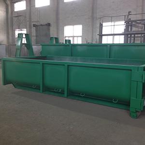 green hooklift bin
